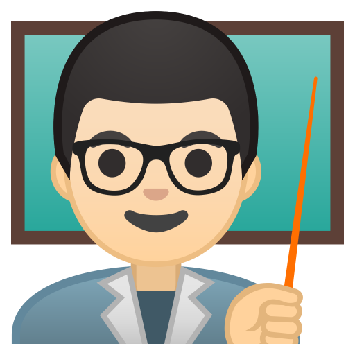 10219-man-teacher-light-skin-tone icon