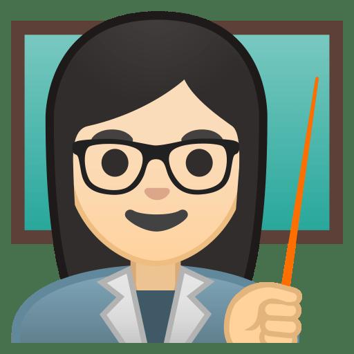 10225-woman-teacher-light-skin-tone icon