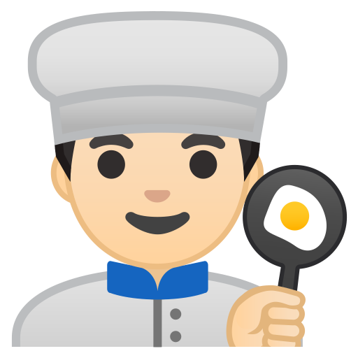 Man cook light skin tone icon