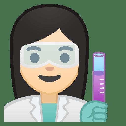 10321-woman-scientist-light-skin-tone icon