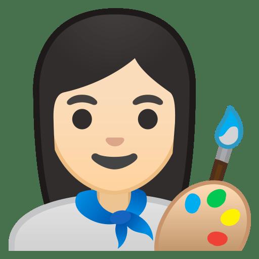10357-woman-artist-light-skin-tone icon