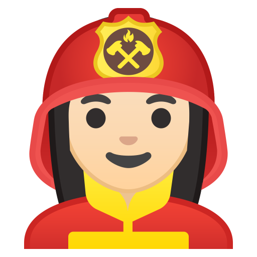 10405-woman-firefighter-light-skin-tone icon