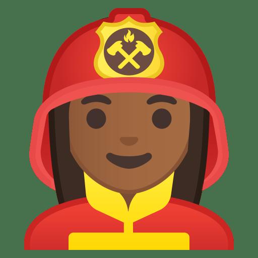 10408-woman-firefighter-medium-dark-skin-tone icon