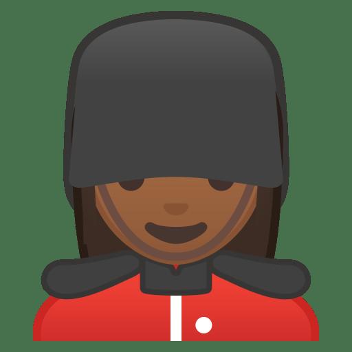 10502-woman-guard-medium-dark-skin-tone icon