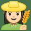 10261-woman-farmer-light-skin-tone icon