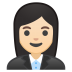 10309-woman-office-worker-light-skin-tone icon