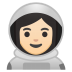 10393-woman-astronaut-light-skin-tone icon