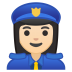 10431-woman-police-officer-light-skin-tone icon