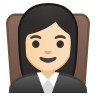 10245-woman-judge-light-skin-tone icon