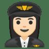 10377-woman-pilot-light-skin-tone icon