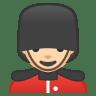 10484-man-guard-light-skin-tone icon