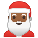 Santa Claus medium dark skin tone icon