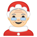 Mrs. Claus light skin tone icon