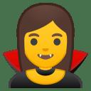 Woman vampire icon