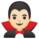 Man vampire light skin tone icon