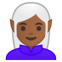 Woman elf medium dark skin tone icon