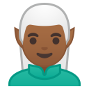 Man elf medium dark skin tone icon