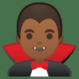 Man vampire medium dark skin tone icon