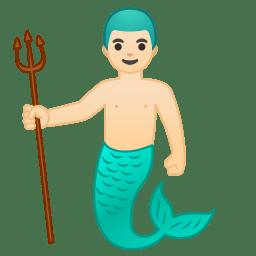 Merman light skin tone icon