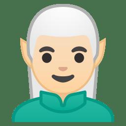 Man elf light skin tone icon