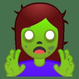 Woman zombie icon