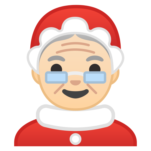 10710-Mrs.-Claus-light-skin-tone icon