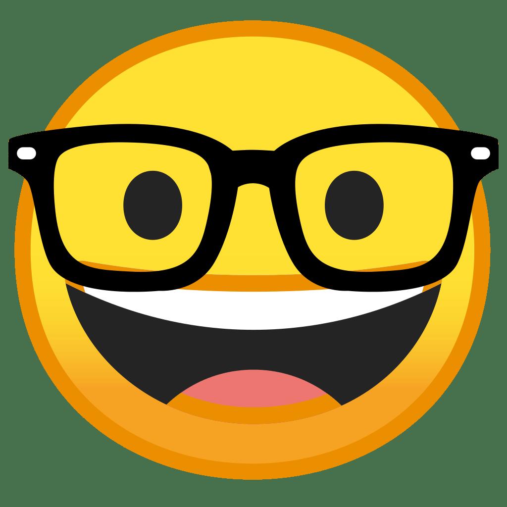 Nerd face Icon | Noto Emoji Smileys Iconset | Google