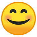 Smiling face with smiling eyes icon