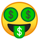Money mouth face icon