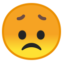 Disappointed face icon