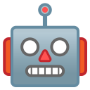 Robot face icon