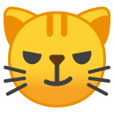 Cat face with wry smile icon