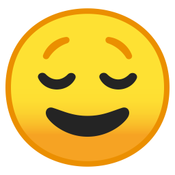 Relieved Face Icon Noto Emoji Smileys Iconset Google