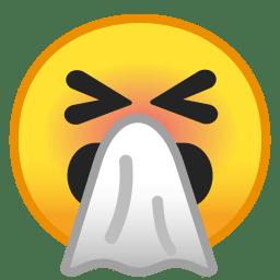 Sneezing face icon