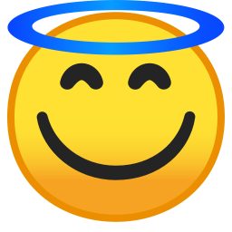 Smiling face with halo icon