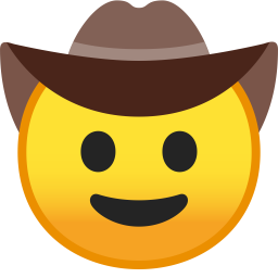 Cowboy hat face icon