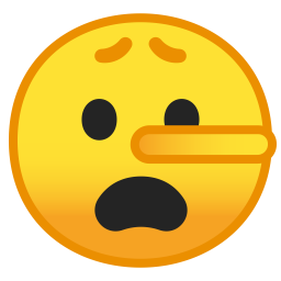 Lying face icon