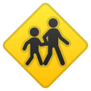 Children crossing icon