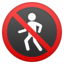 No pedestrians icon