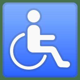 Wheelchair symbol icon