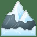 Snow capped mountain icon