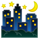 Night with stars icon