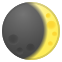 Waxing crescent moon icon
