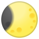 Waning crescent moon icon