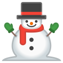 Snowman without snow icon