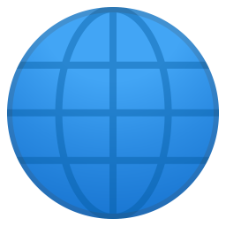 Globe with meridians icon