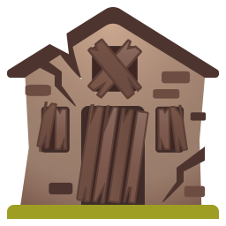 Derelict House Icon Noto Emoji Travel Places Iconset Google