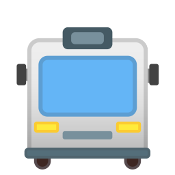 Oncoming Bus Icon Noto Emoji Travel Places Iconset Google