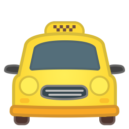 Oncoming taxi icon