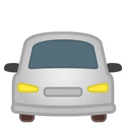 Oncoming automobile icon